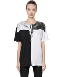 Marcelo Burlon County of Milan Odila Printed Cotton Jersey T Shirt