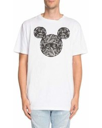 Marcelo Burlon County of Milan Marcelo Burlon Snake Print Mickey Mouse Graphic T Shirt