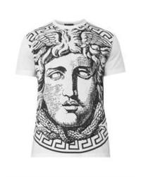 Versace Medusa Print Cotton T Shirt