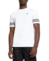 River Island Mono Greek Sleeve Graphic Tee