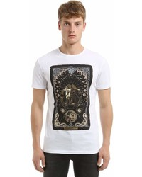 Moon logo print cotton jersey t shirt medium 6976859