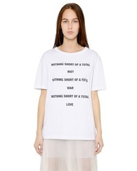 Yang Li Nothing Short Of Printed Cotton T Shirt