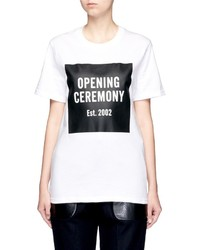 Opening Ceremony Oc Mirrored Logo T Shirt