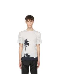 Dries Van Noten Off White And Black Len Lye Edition Tattoo T Shirt