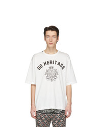 Dolce and Gabbana Off White Dg Heritage T Shirt
