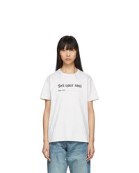 R13 Off White Sell Your Soul Boy T Shirt