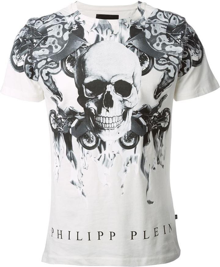 83ffb6a401 Philipp Plein Skull Print T Shirt, $193   farfetch.com   Lookastic.com