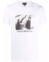 Emporio Armani Photograph Print T Shirt