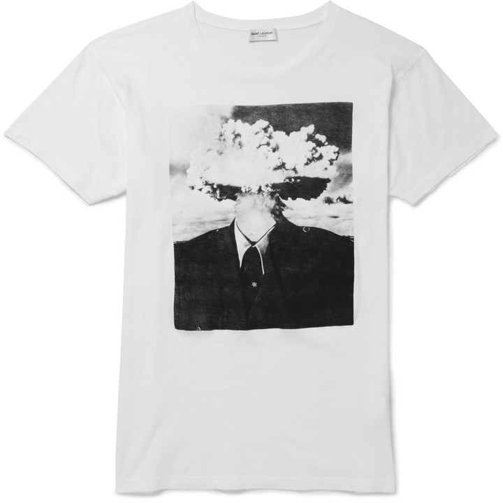 af123e742bf4 Saint Laurent Printed Cotton Jersey T Shirt, $350 | MR PORTER ...