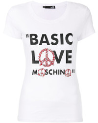 Love Moschino Printed Slogan T Shirt