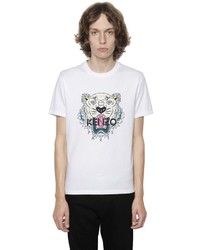 Kenzo Printed Tiger Cotton Jersey T Shirt