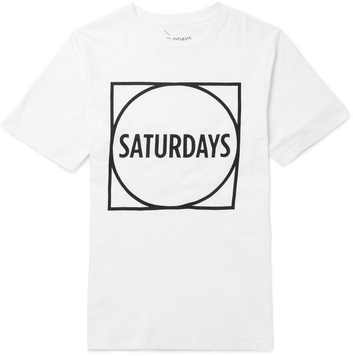 T-shirt en jersey de coton à logo impriméSaturdays Surf NYC classique Livraison Gratuite 100% D'origine Acheter Pas Cher Parfait vue La Sortie Le Moins Cher QX14g8KsTz