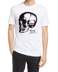 River Island Side Profile Skull Slim Fit Graphic Tee