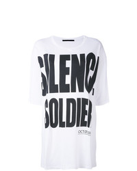 Haider Ackermann Silence Is Golden Oversize T Shirt