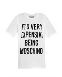 Moschino Slogan Print T Shirt
