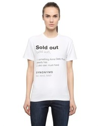 Sold Out Printed Cotton T Shirt