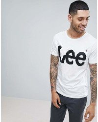 Lee T Shirt Crew Neck With Logo Print In White