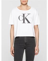 Calvin Klein Teca Cropped Logo T Shirt