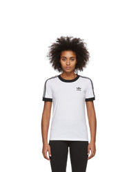 adidas Originals White 3 Stripes T Shirt