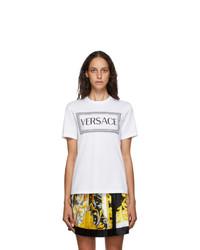 Versace White 90s Logo T Shirt