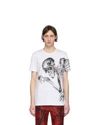 Alexander McQueen White And Grey Skeleton T Shirt