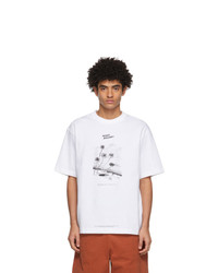 Acne Studios White Beni Bischof Edition Peace Gallery T Shirt