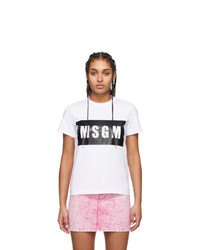MSGM White Box Logo T Shirt
