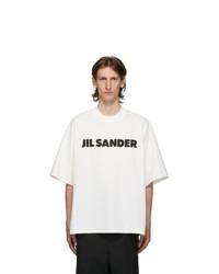 Jil Sander White Boxy Logo T Shirt