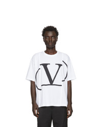 Valentino White Deconstructed Vlogo T Shirt
