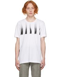 Marni White Distorted Logo T Shirt
