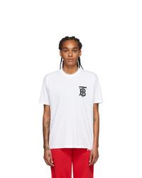 Burberry White Emerson T Shirt
