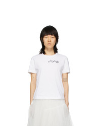 MM6 MAISON MARGIELA White Fitted T Shirt