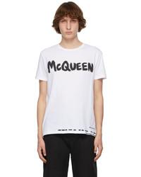 Alexander McQueen White Graffiti T Shirt