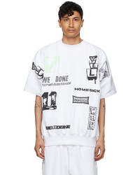 We11done White Graphic All Over T Shirt