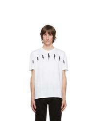 Neil Barrett White Halo Bolt T Shirt