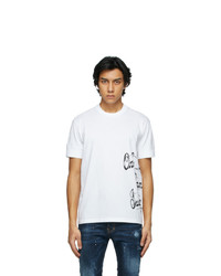 DSQUARED2 White Ibrahimovic Edition Text T Shirt