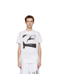 DSQUARED2 White Jump Cool Fit T Shirt