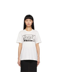 Versace White License Plate T Shirt
