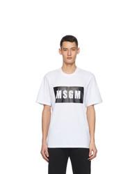 MSGM White Logo Box T Shirt