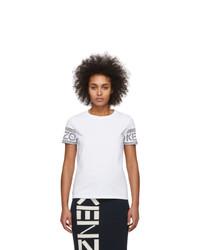Kenzo White Logo Sport T Shirt