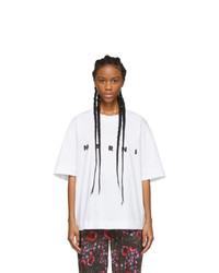 Marni White Logo T Shirt