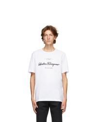 Salvatore Ferragamo White Logo T Shirt