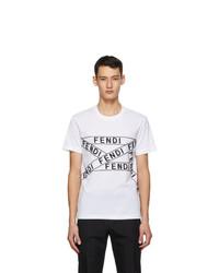 Fendi White Logo T Shirt