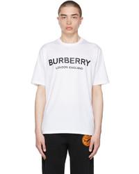 Burberry White Logo T Shirt