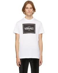 Versace White Logo T Shirt