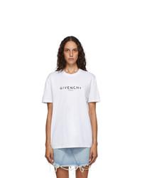 Givenchy White Masculine Paris Logo T Shirt