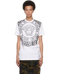 Versace White Medusa Motif T Shirt