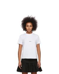 MSGM White Micro Logo T Shirt