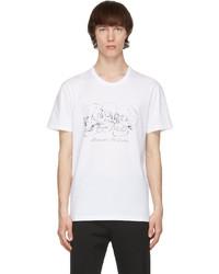 Alexander McQueen White Mix Skulls T Shirt
