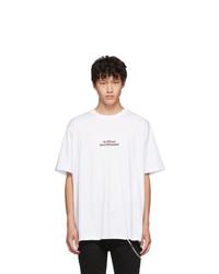 Neil Barrett White Olympian Skateboarder T Shirt